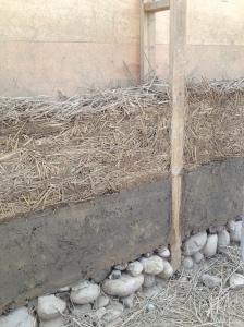 稻桿裹泥牆
